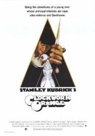 Poster do filme Laranja Mecânica dirigido por Stanley Kubrick