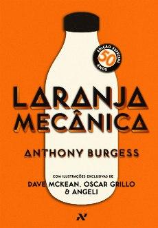Capa da edição comemorativa de 50 anos do livro laranja mecânica