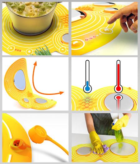 Cooktop de Silicone - crédito da imagem: Yanko Design