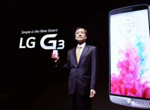 Presidente da LG Mobile, Jong Seok Park apresenta o novo LG G3 (Foto LG Divulgação)